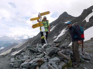 Llegando a uno de los collados del trekking