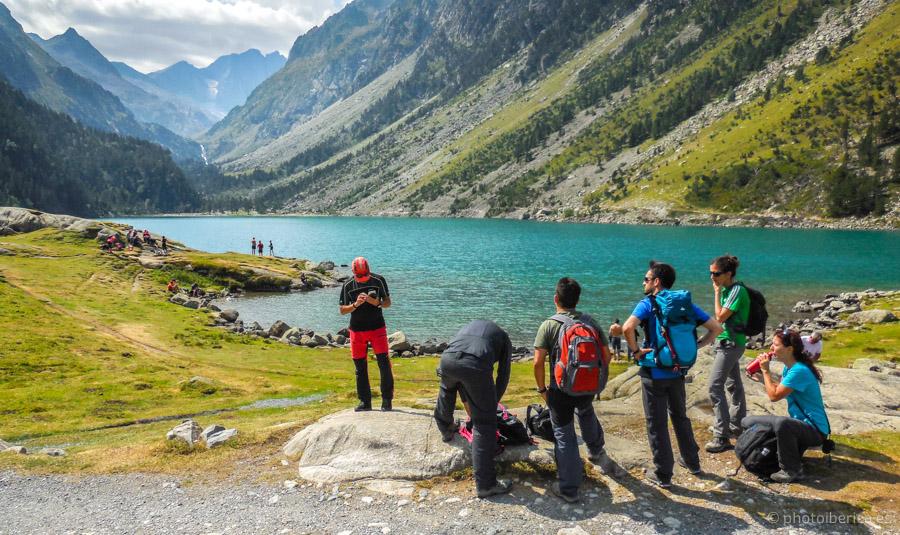 A orillas de los lagos del pirineo francés.