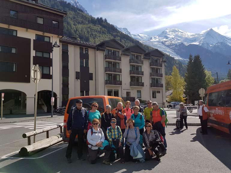 Furgoneta en el Mont Blanc